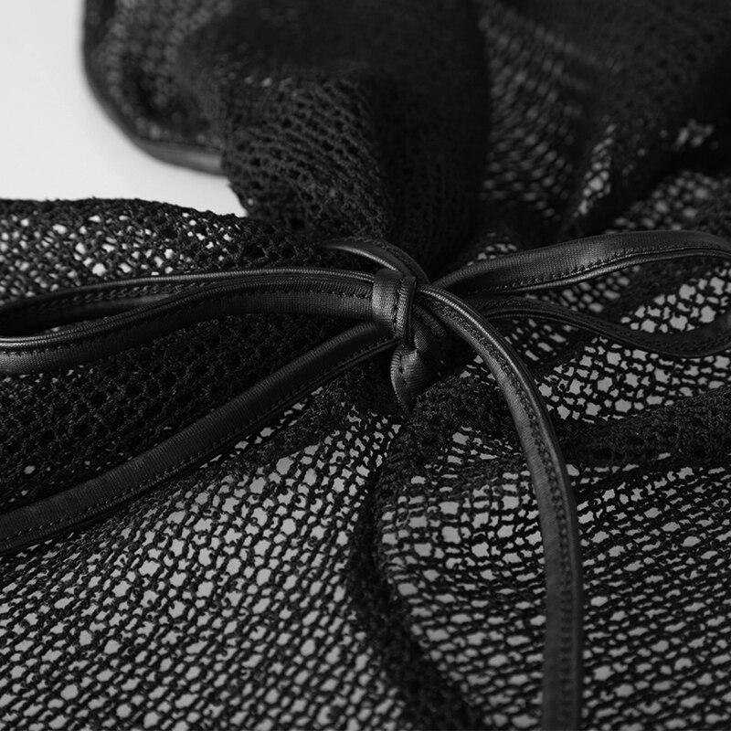 Rodilla Encaje Piezas Asimétrico Dos Forma longitud Faldas Masajeadores Black Irregulares Falda Modal Verano Mujeres De Collar Cuello En Negro Punk 1qCwxTO