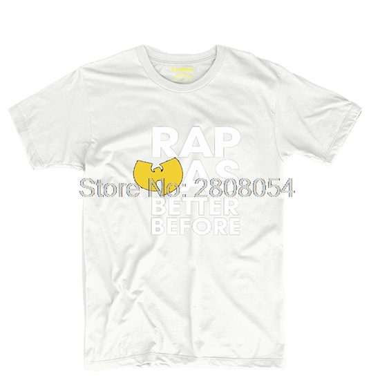 Wu Tang Clan Rap Was Better Before Rza Mens & Womens Games Tee Cosplay T shirt