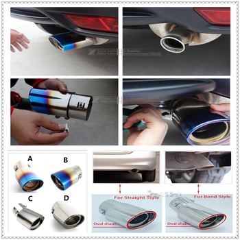 Stainless Steel Auto Car Exhaust Muffler Tip pipe cover Tail For BMW 335is Scooter Gran 760Li 320d 135i E60 E36 F30 F30 image