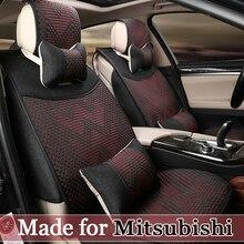 Summer Cool seat cover for Mitsubishi ASX Pajero Outlander Sport RVR Lancer Ex Zinger V73 V93 5 seat cushion Universal Full 0128