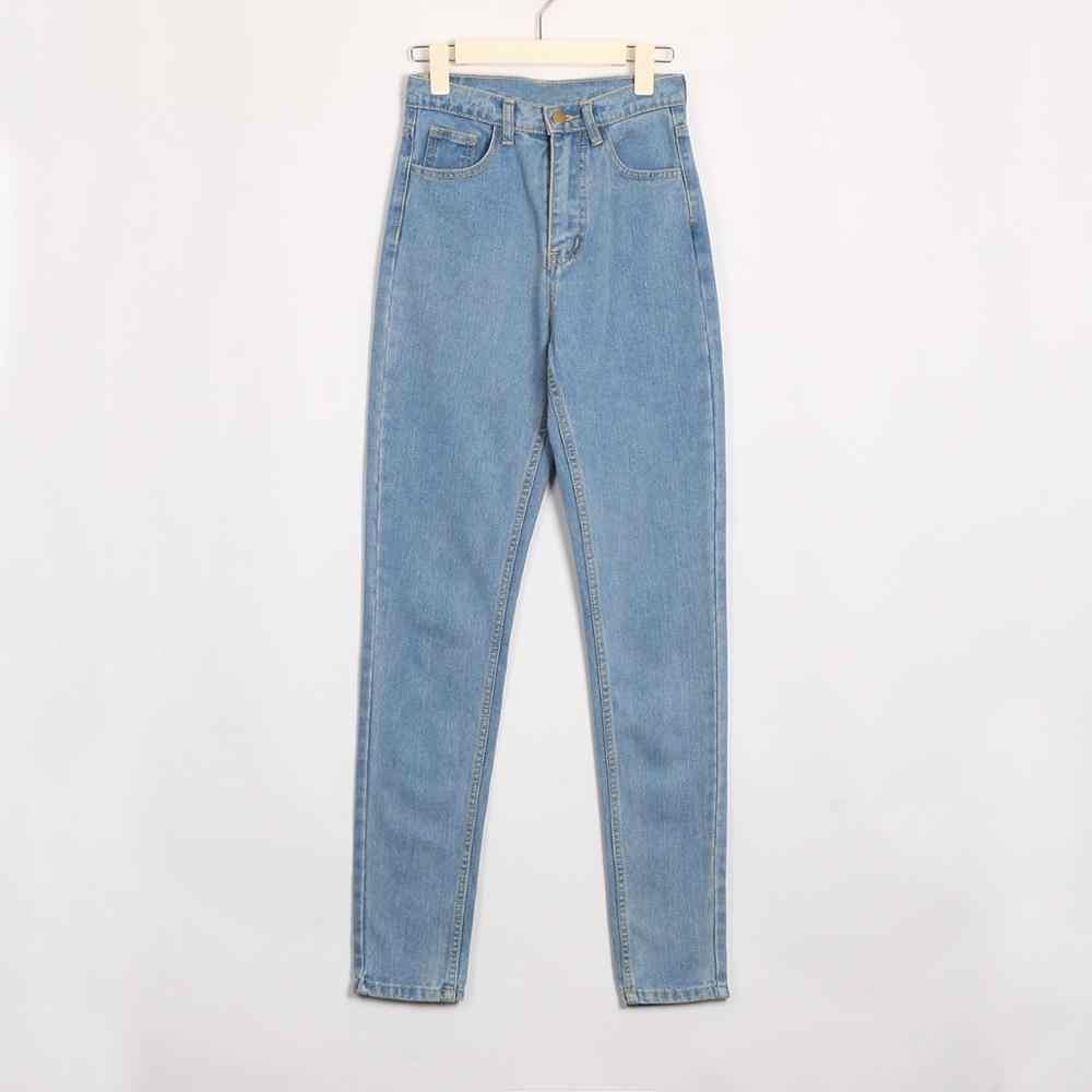 Wixra בסיסי ג 'ינס רך מכנסיים הרמון ג' ינס נשי ישר כל התאמה בסיסית גבוה מותן ג 'ינס Femme ארוך ג' ינס מכנסיים עבור נשים