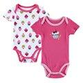 2pcs marca original / embalar roupas menina do menino babador de manga curta bebê para a roupa do corpo Bebe Newborn Moda Macacões