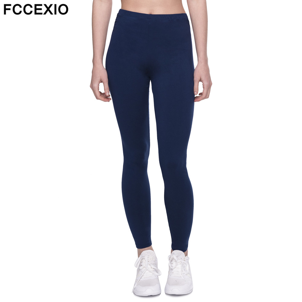 Fccexio 2019 Spring New Navy Blue Leggings Women Fashion High Waist Sexy Workout Leggings Fitness Leggings Slim Sporting Legging Leggings Aliexpress