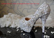 2016 New Hot Sale 14cm Heel White Wedding Dress Shoes Sparkling Rhinestone Bridal Shoes Dancing Party Shoes Evening Dress Shoe