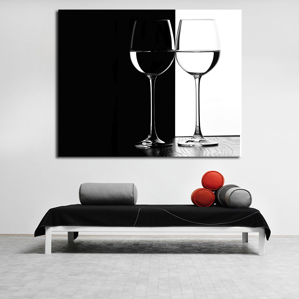 JQHYART Oil Painting Red Wine Glass Wall Art Canvas Decorative Living Room  Painting Wall Painting Picture No Frame In Painting U0026 Calligraphy From Home  ...