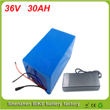 Free shipping bike electric 1000w 36v battery, 36V 30Ah for 36v Bafang/8fun 500w /750w mid/center drive motor with charger ,BMS
