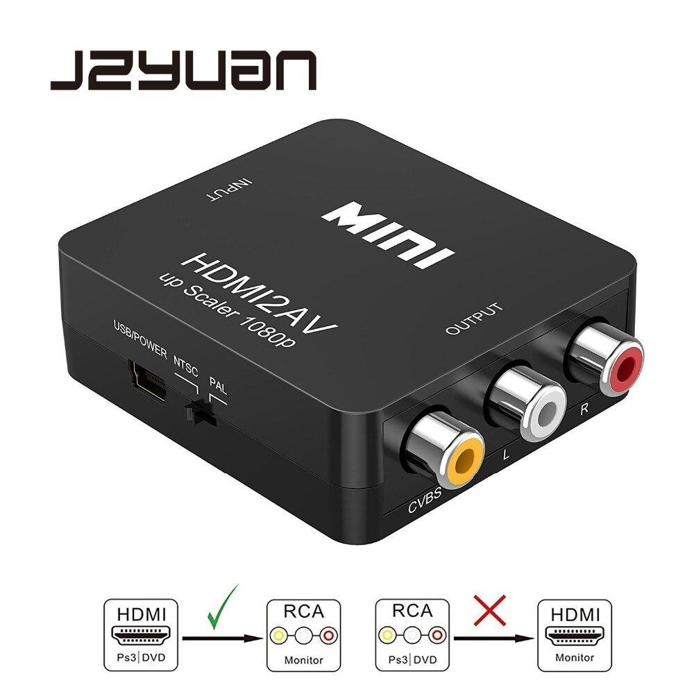 Jzyuan pantaloni HDMI A AV Scaler Adattatore HD Video Converter Box HDMI a RCA AV/CVSB L/R 1080 p HDMI2AV Supporto NTSC PAL Commercio All'ingrosso