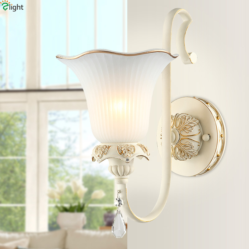 Europe Retro Frosted Glass Led Wall Lights Lustre Resin Bedroom Led Wall Lamp Corridor Led Wall Light Fixtures Foyer Wall Sconce europe retro lustre solid copper led wall lamp luminarias simple fabric shades bedroom led wall lights fixtures foyer wall light