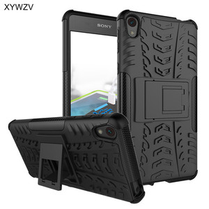Image 1 - sFor Coque Sony Xperia E5 Case Shockproof Hard Silicone Phone Case For Sony Xperia E5 Cover For Sony E5 F3311 F3313 Shell XYWZV