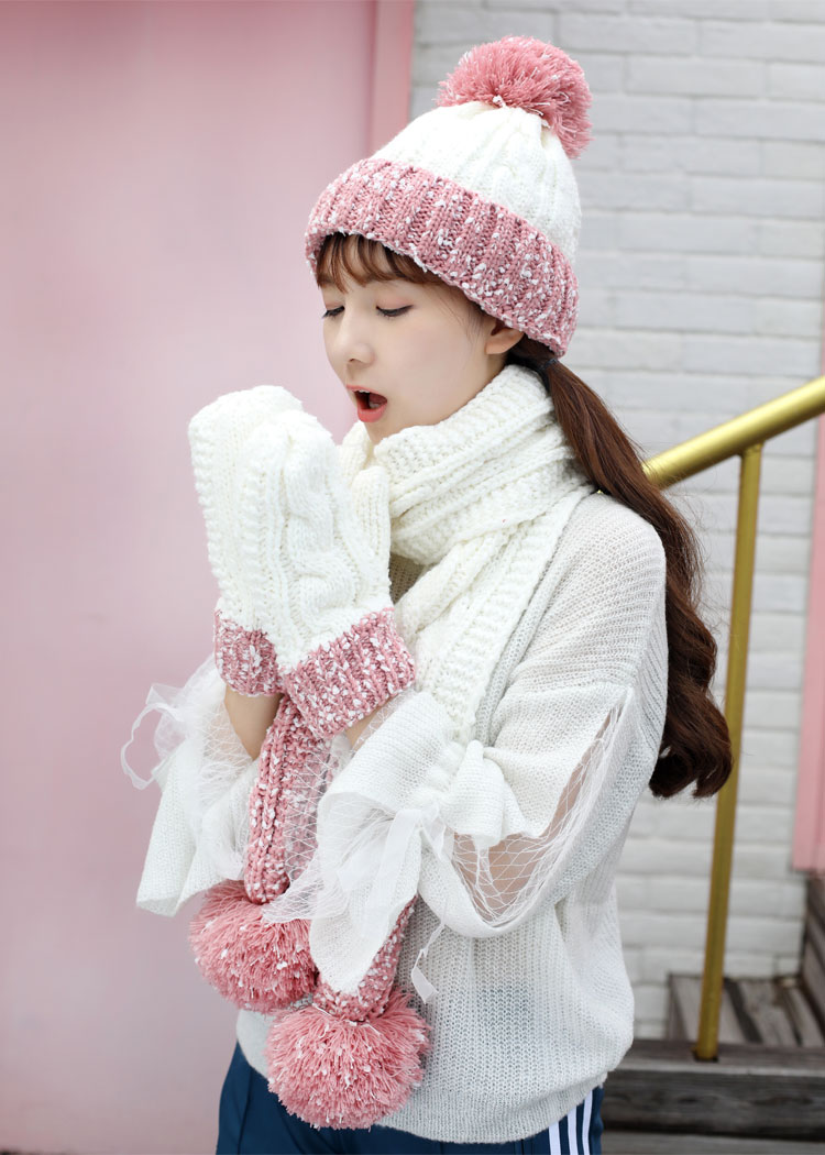 at and scarf set hat and scarf women\`s knitted hat and scarf for women Hat & Glove Sets hat and scarf set winter hat and scarf sets (2)