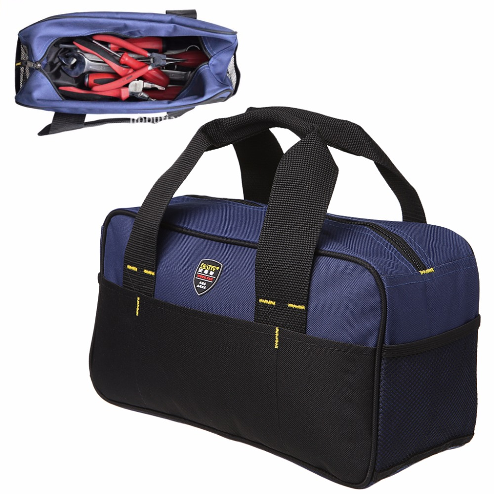 35x12.5x19cm Multi-Pockets 600D Repair Kit Tool Bag Portable Multi-function Tool Kit Pack Organizer Bag