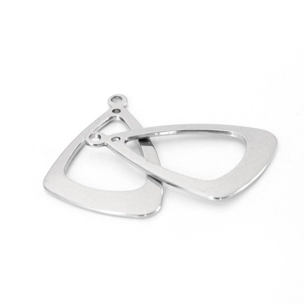 10 Teile/los 22x34mm Silber Ton Edelstahl Dreieck Metall Stanzen Blank Tags Für Diy Ohrringe Schmuck, Der F3383