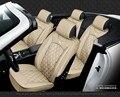 Para Citroen C1 C2 C3 C5 Elysee negro rojo marca de lujo coche de cuero suave cubierta de asiento delantero y trasero conjunto Completo fundas de asiento de coche