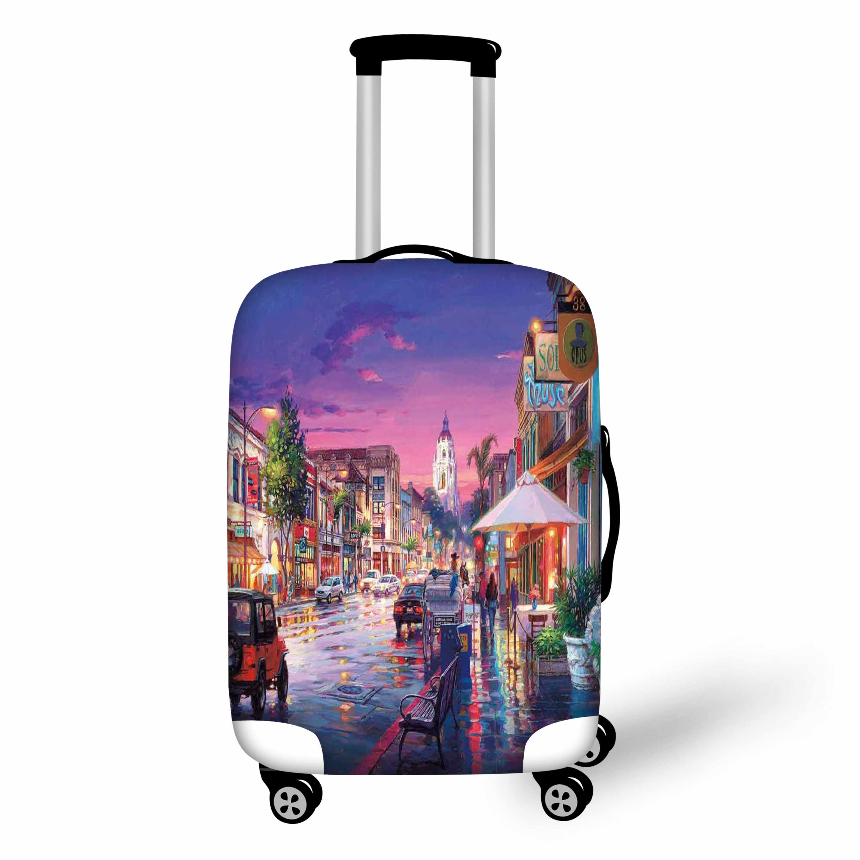 Luggage Protective Covers Landscape Venice Case Cover Travel Accessories Elastic Dust Cover Apply to 18-28 Suitcase