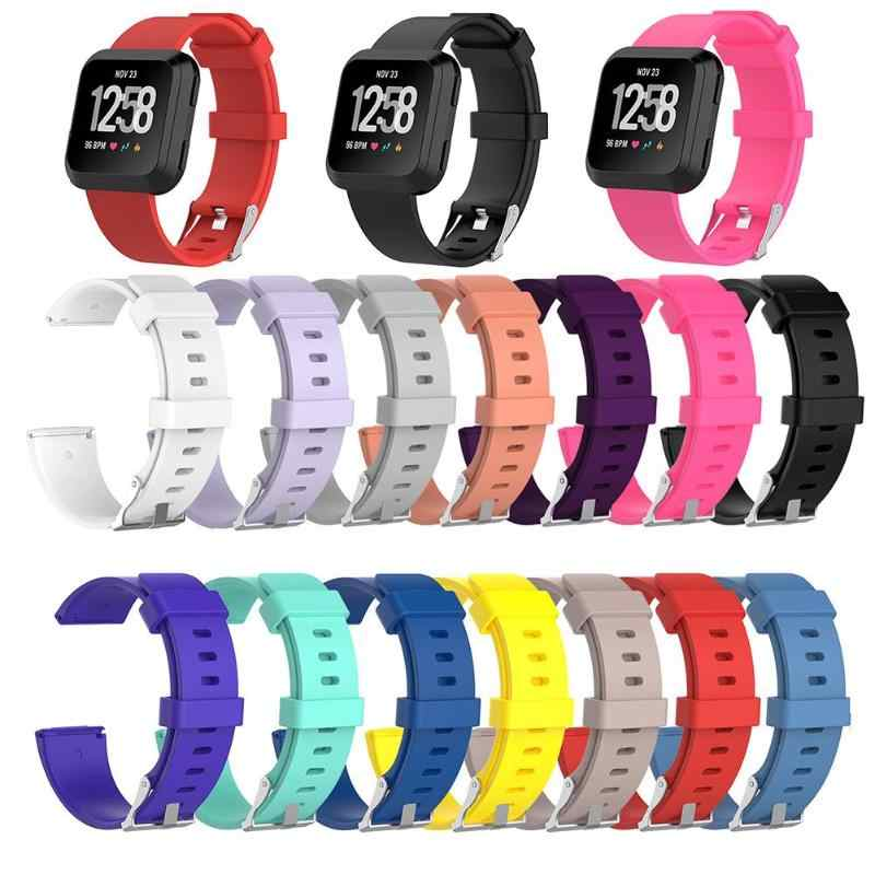 1Pcs Soft Silicone Replacement Sport Wristband Watch Band Strap for Fitbit Versa Bracelet Wrist Watchband Colorful  S L Size