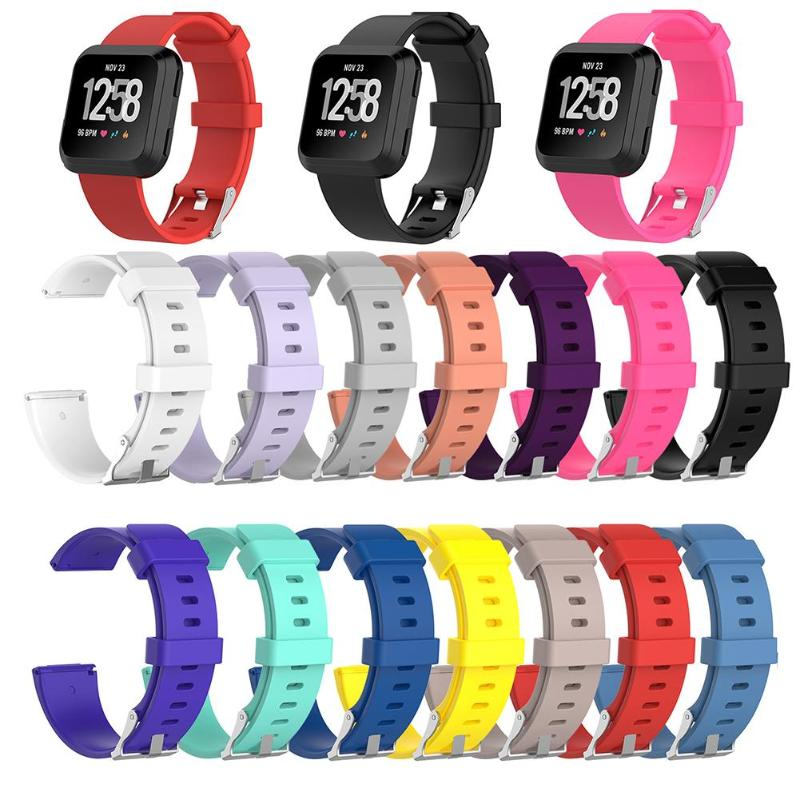 1Pcs Soft Silicone Replacement Sport Wristband Watch Band Strap for Fitbit Versa Bracelet Wrist Watchband Colorful  S L Size  soft silicone replacement sport wristband watch band strap for fitbit versa bracelet wrist watchband colorful band new arrival