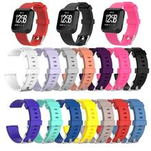 1Pcs Soft Silicone Replacement Sport Wristband Watch Band Strap for Fitbit Versa Bracelet Wrist Watchband Colorful S L Size(China)