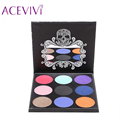 New Cosmetic 9 Colors Eye Shadow Shimmer Matte Eyeshadow Palette Eye Shadow Powder Cosmetic  For Women