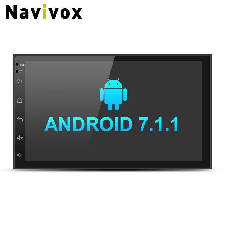 Navivox 7 ''reproductor Multimedia 2 din Android 7.1.1 Quad Core Universal GPS Radio estéreo reproductor de Audio para nissan no dvd