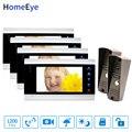 Groothandel Video Deurbel Video Intercom 2-4 Thuis Toegangscontrole Systeem Bewegingsdetectie Multi-talen Osd-menu Touch knop