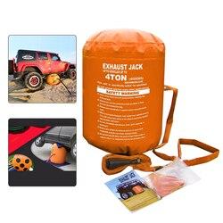 Mr Cartool şişme Jack egzoz hava krikosu araba için 4T 4.2T şişirilmiş yükseklik 72 Cm SUV Sedan için tekerlek destek krikoları