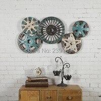 Винтаж промышленного ветер металл цвет зуб колеса Железный фотообои творческой домашний бар настенные украшения