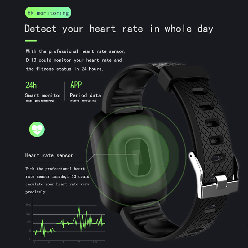 Soulusic D13 Smart Bracelet For Android iPhone IP67 Waterproof Heart Rate Tracker Blood Pressure Oxygen Sport Soulusic D13 Smart Bracelet For Android iPhone IP67 Waterproof Heart Rate Tracker Blood Pressure Oxygen Sport Wirstbands