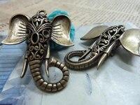 2 stks groothandel accessoires Antieke Bronzen Olifant Hoofd Charm DIY Sieraden Maken Hanger Bevindingen