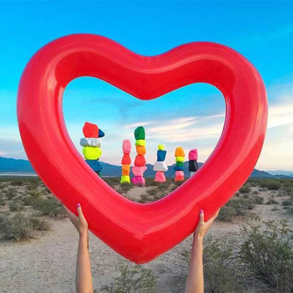 Inflatable Heart Shaped Circle Air Mattress Swimming Pool Float Swim Ring  Seat Boat Raft Summer Water Fun Pool Toys In Swimming Rings From Sports ...