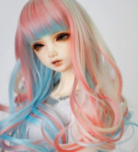 doll accessories 1/3 Bjd wig doll hair wig long straight big curl end colorful various colors girl female cute fringe bangs - uncle 1 3 1 4 1 6 doll accessories for bjd sd bjd eyelashes for doll 1 pair tx 03