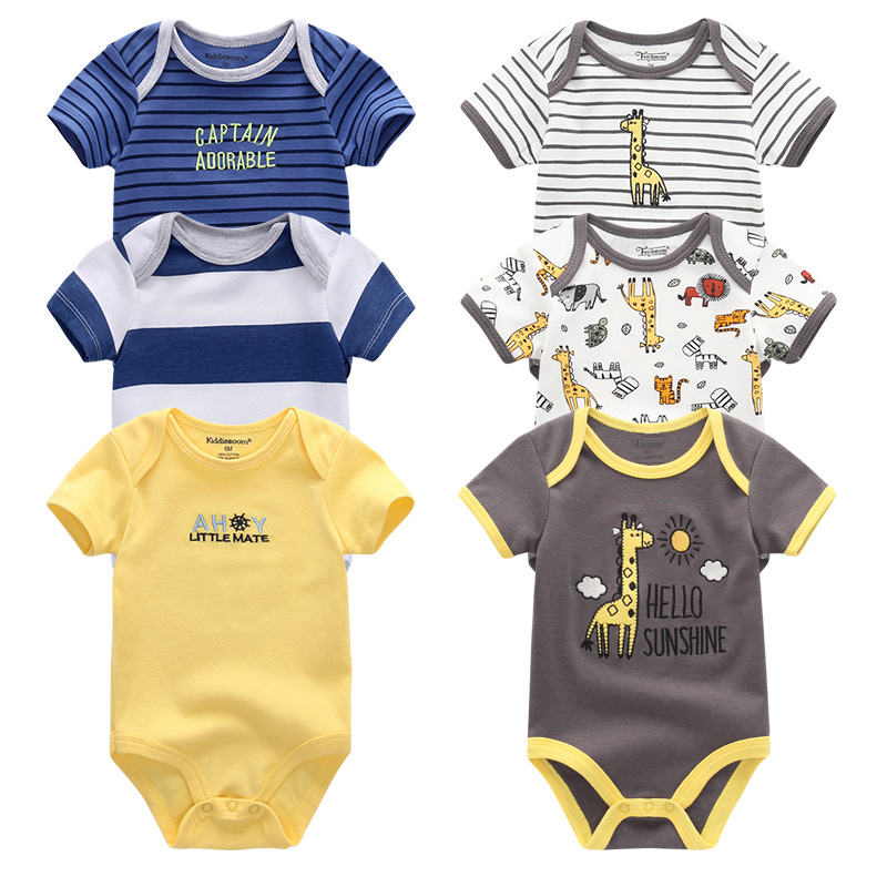 Baby Clothes 5Pcs/set Baby Boy Girl   Rompers   roupa de bebe Cotton New born Infantil Jumpsuit Clothing 12m Toddler Pajamas menina