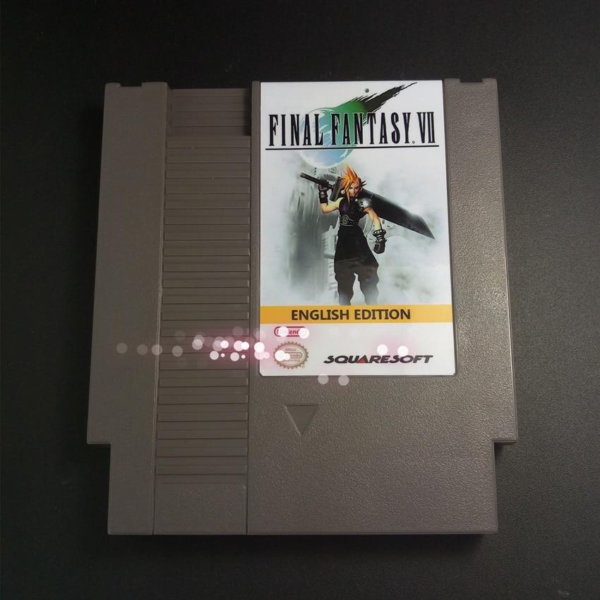 Top 72 pins 8bit game cartridge - Final Fantasy VII English Edition For NES Final Fantasy 7 PokemonYellow Save File