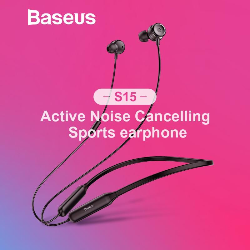 Baseus S15 activa de ruido cancelación auricular Bluetooth inalámbrico auricular del deporte... nacido para crear un mundo que sólo pertenece a