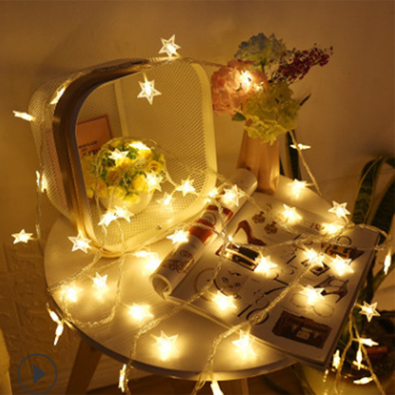 LED Star Lights Flashing Lights String Lights Stars Dormitory Artistic Room Decorative Lights Bedroom Layout Light Bulb Festival