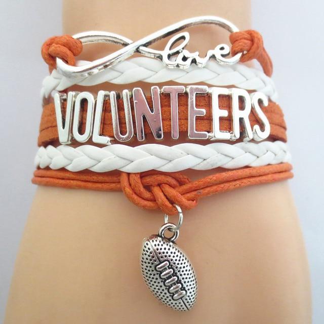 Бесконечная любовь Волонтеры спорт футбол браслет настроить браслет дружбы браслеты B09696