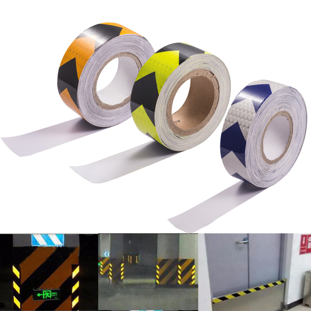 Car Warning Sticker Styling Reflective Stickers Safety Mark Reflective Tape Stripes For Automobiles Motorcycle