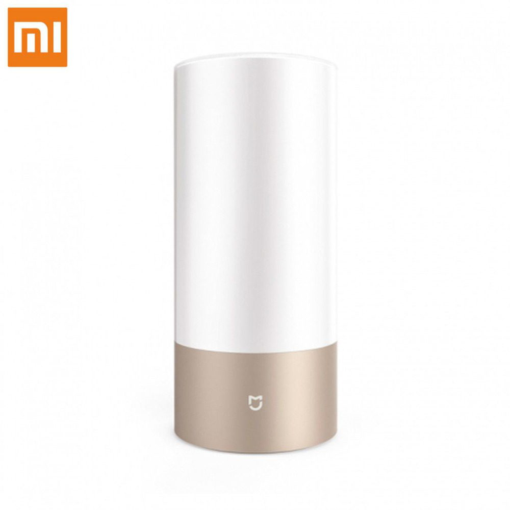 Original Xiaomi Mijia Smart Bedside Lamp Smart Lights Touch Control Bluetooth Wifi with 16 Million RGB Light Color Support APP original xiaomi mi yeelight e27 8w white led smart light bulb smartphone app wifi control 220v