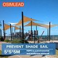 Mantenha fora ultravioleta (uv) 95% 5*5*5 m sol sombra vela toldo da barraca