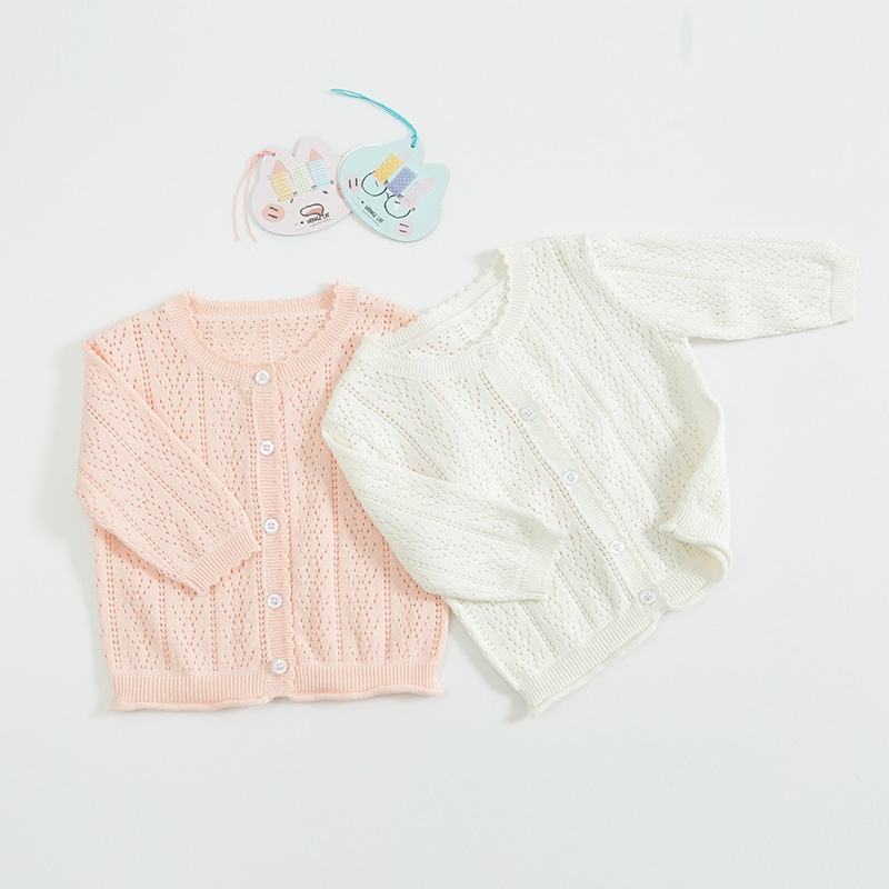 1539 Sweet Breathable Cotton Soft Pure Color Cardigan Sunscreen Jacket For Spring And Summer 2019 Baby Girls1539 Sweet Breathable Cotton Soft Pure Color Cardigan Sunscreen Jacket For Spring And Summer 2019 Baby Girls