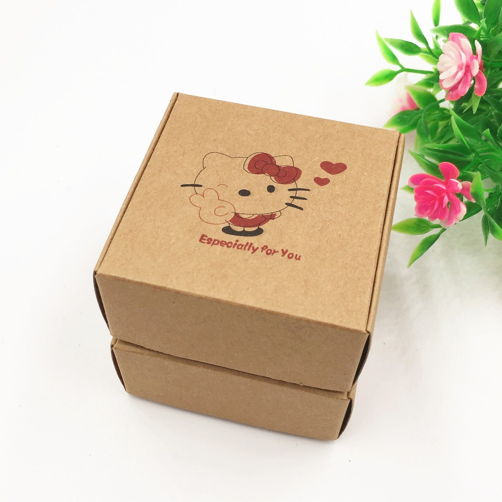 500pcs/lot Kraft Paper Box Handmade DIY Soap Business Card Gift ...