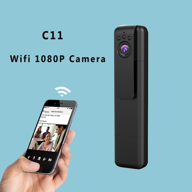 C11 Wifi Mini Camera Portable 1080P 720P HD Micro Camera Infrared Night Vision Pen Camera Video Voice Recorder Mini DV DVR Cam micro camera compact telephoto camera bag black olive