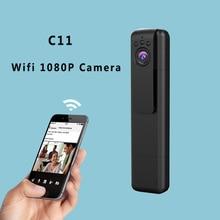 C11 Wifi Mini Câmera Portátil 1080 P 720 P HD Micro Câmera Infravermelha Caneta Câmera De Vídeo de Visão noturna Gravador de Voz Mini DV DVR Cam