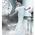 White Maternity Photography Props Long Party Dresses For Photo Shoot Royal Pregnancy Wear Evening Dress For Pregnant Women NEW