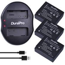 DuraPro 3 шт. DMW-BLG10 DMW BLG10 литий-ионный Батарея + USB двойной Зарядное устройство для Panasonic blg10e blg10gk BLG10 DMC-GF6 dmc-gx7 gf6 GX7