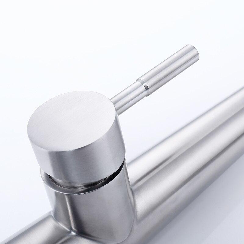 Fapully Smart Touch Control robinet de cuisine brossé noir sensible mélangeur tactile Induction robinet tirer vers le bas évier robinet grue CP1051 - 6