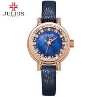 JULIUS Watch For Girls Wacht Women Femmes Montres Vrouwen Horloges Watches Ladies Wrist Watch Leather Strap
