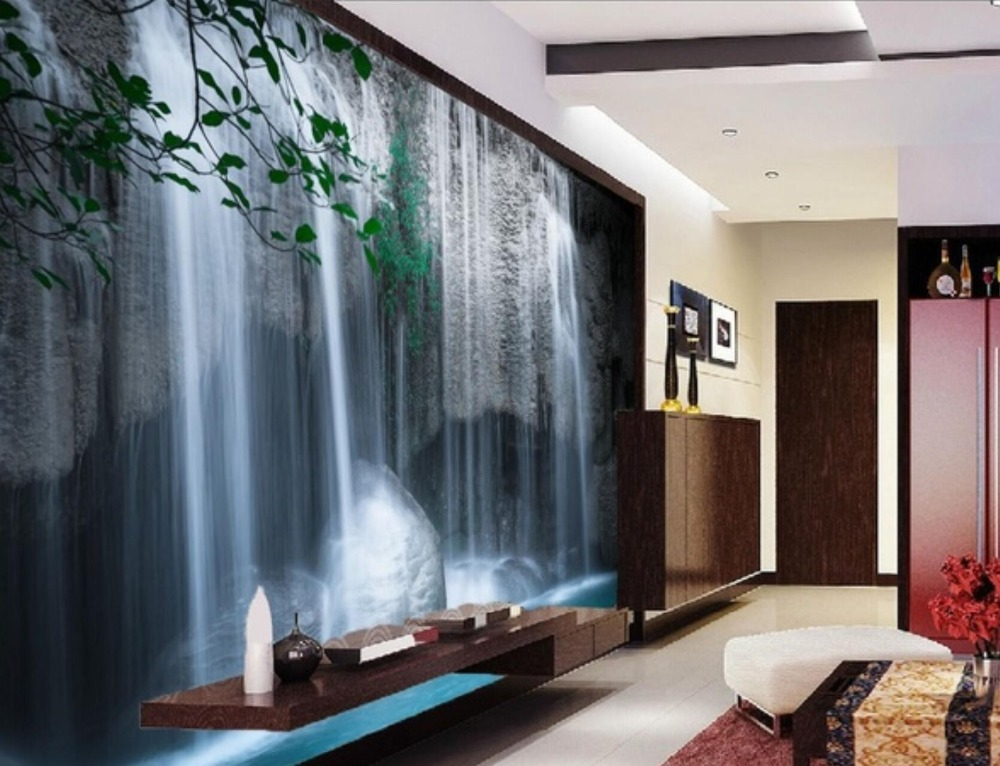 Self Adhesive 3D Waterfall 233 Wall Paper mural Wall Print Decal Wall Murals in Wallpapers from Home Improvement