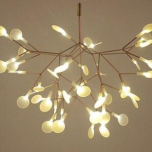 Image 4 - IKVVT złoty wisiorek led Lights metalowa akrylowa gałąź drzewa kształt światło wewnętrzne oprawy restauracja lampa żyrandol do salonu
