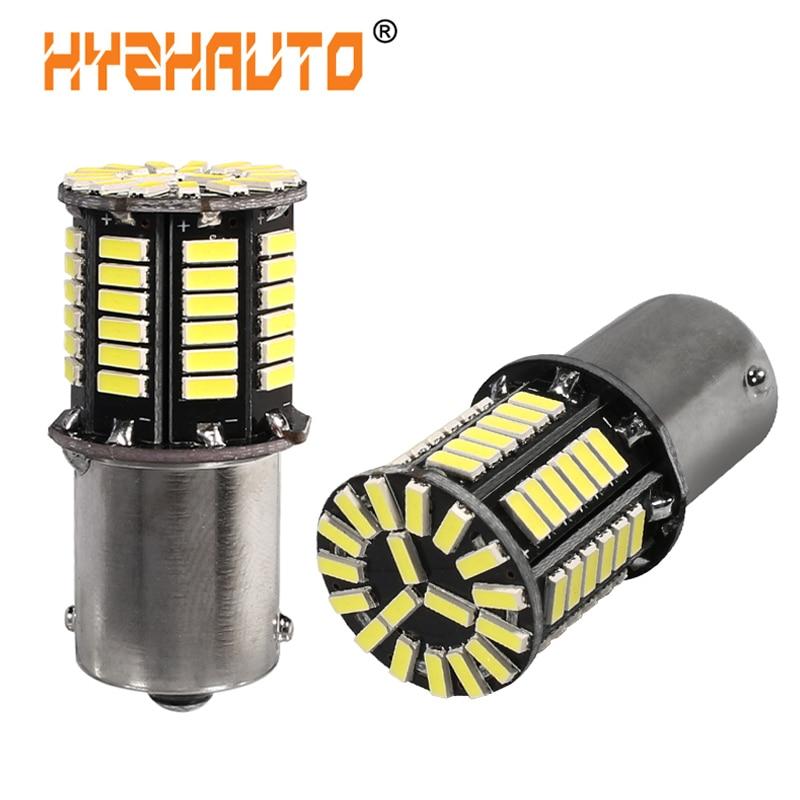 HYZHAUTO 2 шт 1156 Ba15s P21W свет 4014 66 SMD S25 свет автомобиля авто светодиодные Фары заднего хода Резервное копирование лампы ДРЛ 12 V