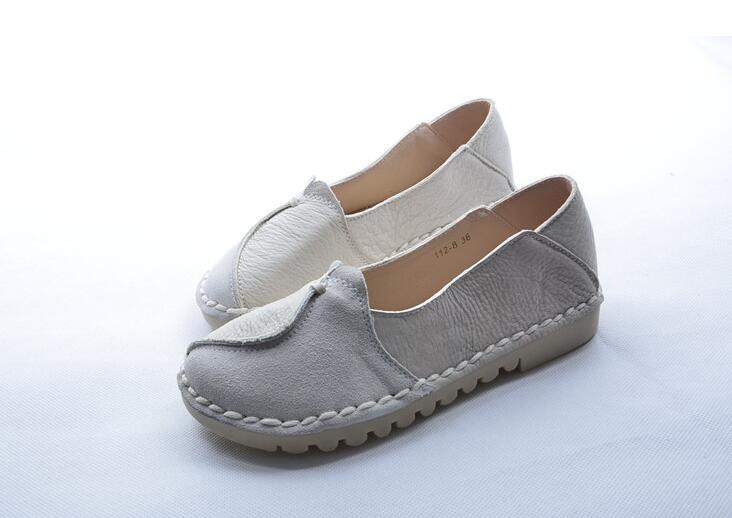 HUIFENGAZURRCS الساخن الأصلي الربيع الرجعية الوطنية الرياح حذاء واحد الإناث اليدوية جلد طبيعي نقي اليدوية الربط Fltas-في أحذية نسائية مسطحة من أحذية على  مجموعة 3